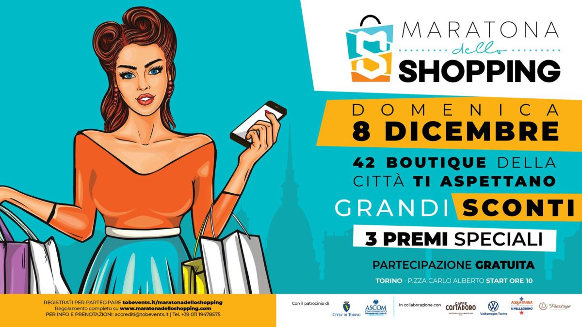A Torino torna la Maratona dello Shopping