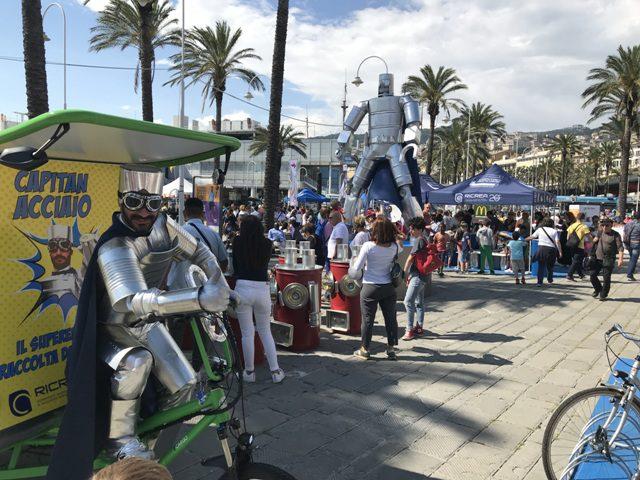 Capitan Acciaio in giro per le piazze italiane