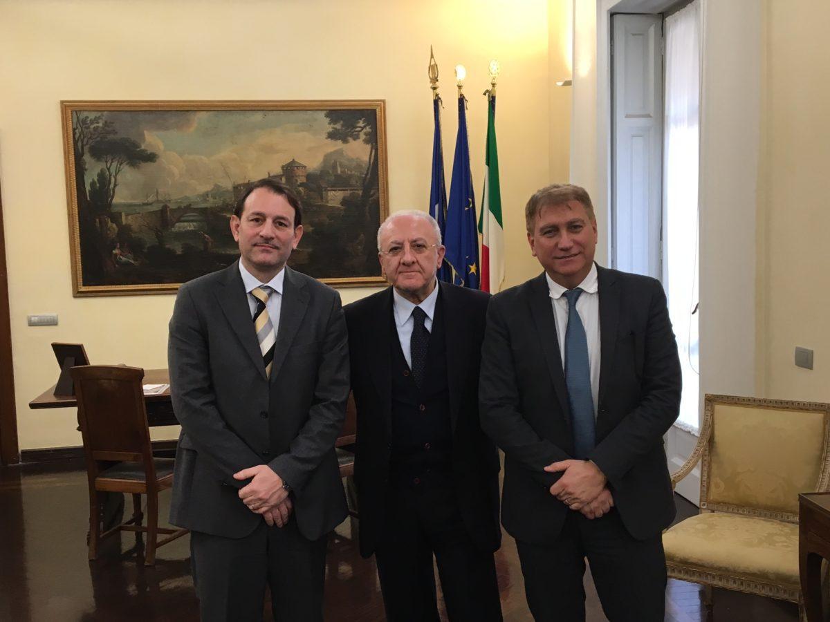 De Luca incontra i commissari per la Sanità
