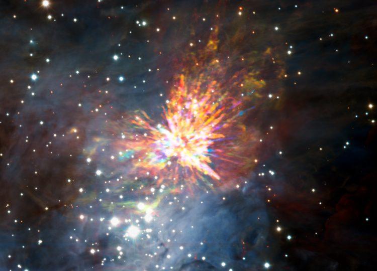 Fuochi d'artificio spaziali