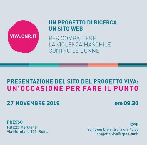 Giornata dedicata al progetto 'Viva'