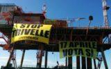 Greenpeace in anzione su piattaforma in Adriatico