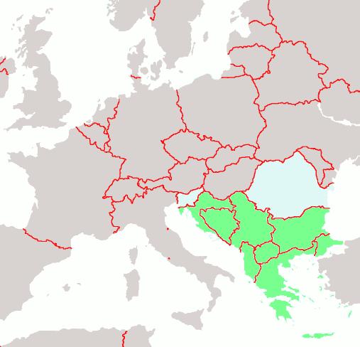 I balcani zona calda per l'Europa