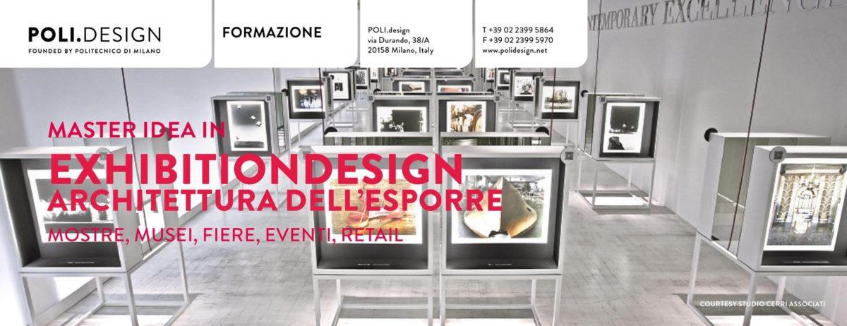 Il Master IDEA in Exhibition Design: pronta l'edizione numero XIII
