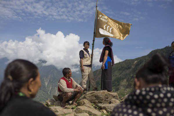 Il WFP fa sventolare la bandiera di Zero Hunger sull'Himalaya