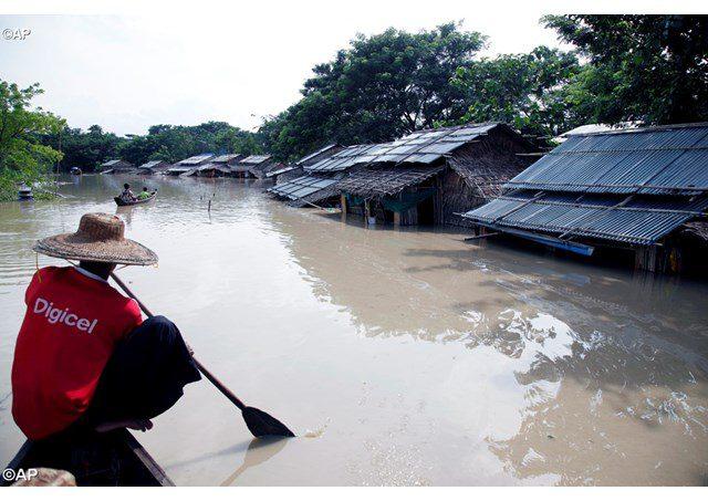 Il WFP risponde alle alluvioni in Myanmar