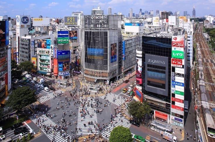 Il volto moderno del quartiere di Shibuya