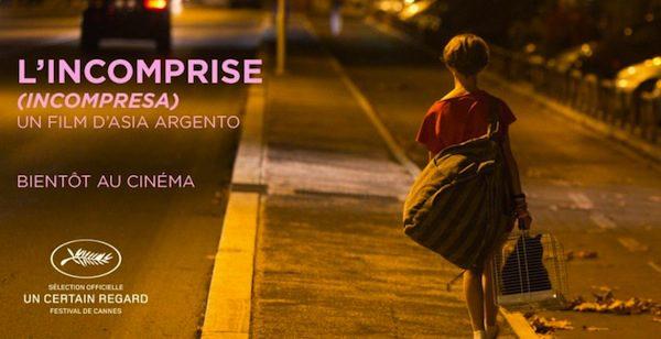 """""""INCOMPRESA"""" DI ASIA ARGENTO AL CINEMA DAL 5 GIUGNO"""