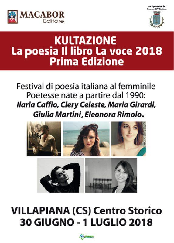 """""""Kultazione"""". Primo festival della poesia giovane italiana al femminile"""