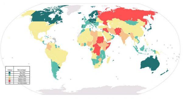 L'Europa si conferma il continente più pacifico del pianeta