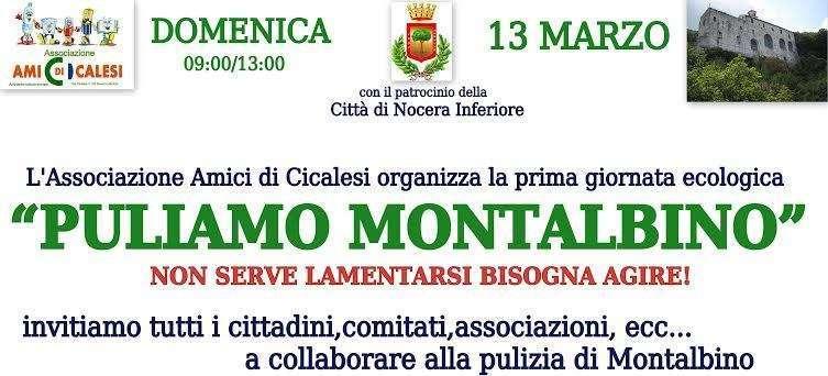 """L'iniziativa """"Puliamo Montalbino"""""""