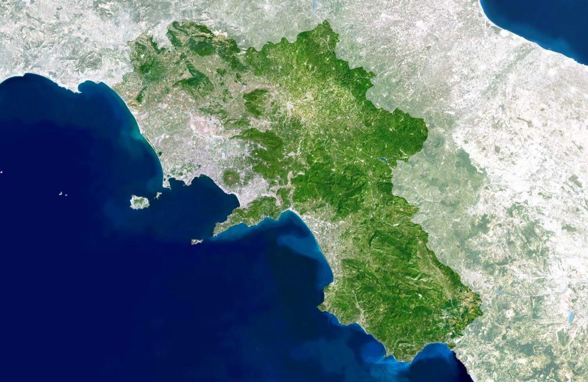La carta geologica della Campania
