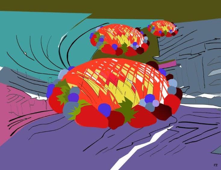 La mostra Torte Volanti di Fabrizio Sclavi