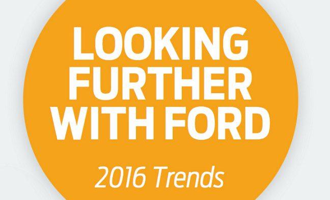 La ricerca Ford sui trend 2016