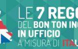 Le 7 regole del bon ton inglese in ufficio  a misura di italiano