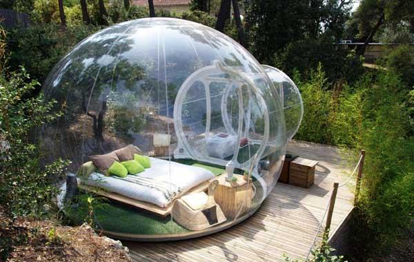 Le bolle per dormire sotto le stelle