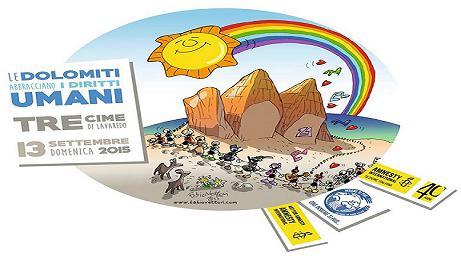 Le Dolomiti abbracciano i diritti umani