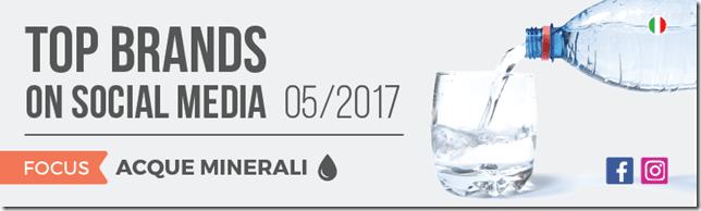Le migliori acque minerali sui Social