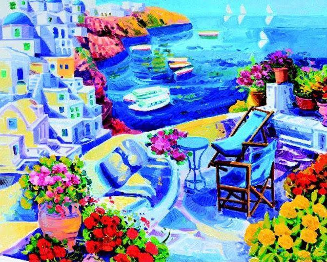 Le opere di Athos Faccincani profumano di Mediterraneo