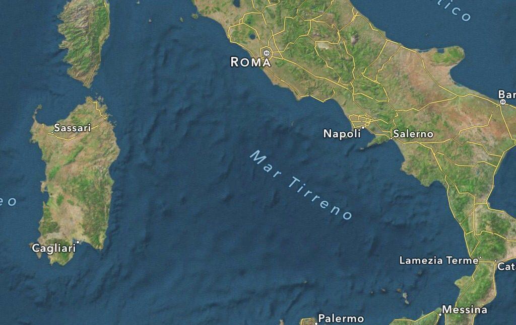Mar Tirreno: scoperto un nuovo complesso vulcanico sottomarino
