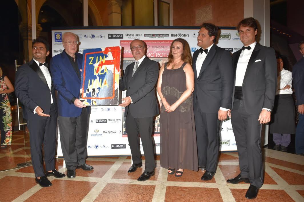 Michael Caine riceve il Premio Rotella