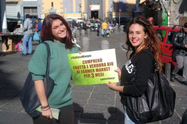 Napoli sostiene il biologico con Greenpeace