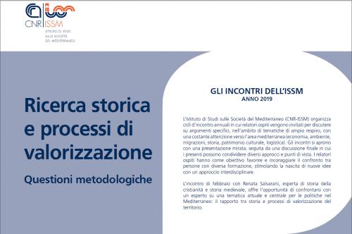 Ricerca storica e processi di valorizzazione: questioni metodologiche