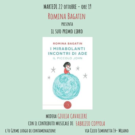 Romina Bagatin presenta il suo romanzo d'esordio a Germi