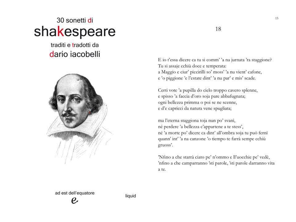 Shakespeare tradotto in napoletano