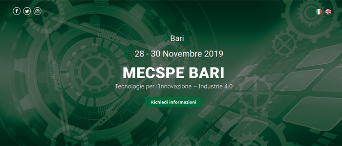 Si avvicina l'appuntamento con la prima edizione di MECSPE BARI