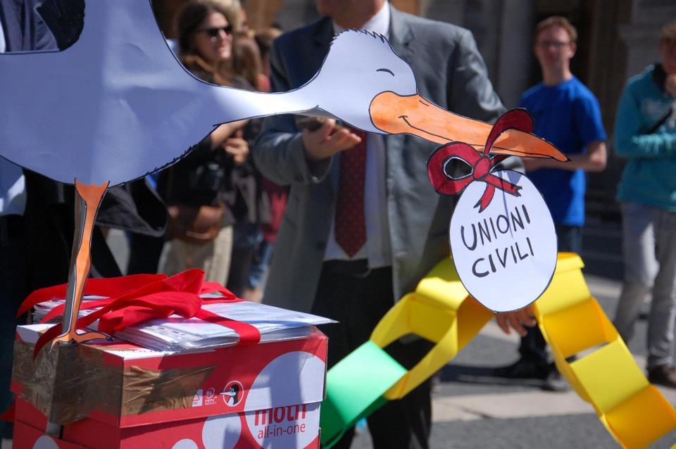 Sulla legge per le unioni civili