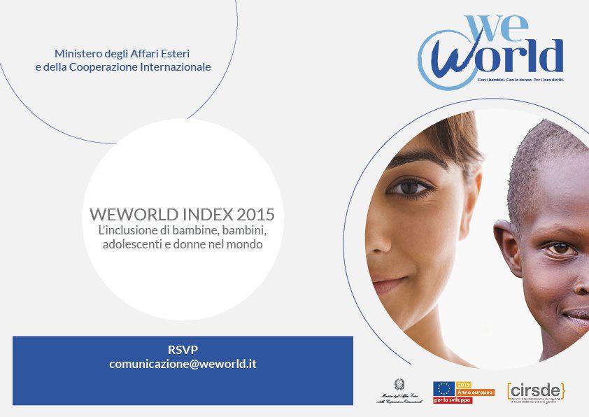 WeWorld index 2015