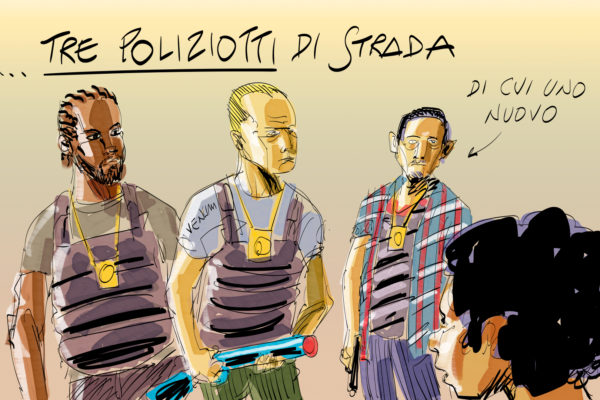 "Il cartoon di Makkox  per il film ""I miserabili"""