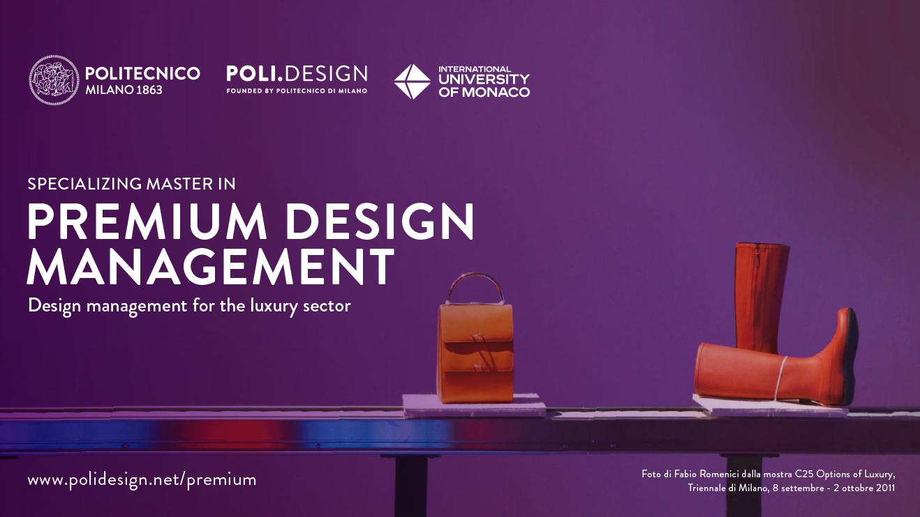 Premium Design Management: il Master del Politecnico di Milano