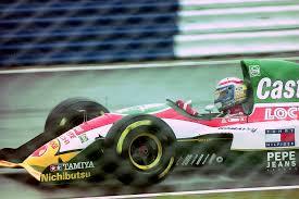 Alex Zanardi alla guida della Lotus