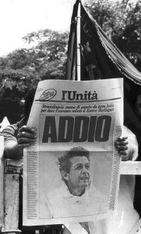 l'anniversario della morte di Enrico Berlinguer