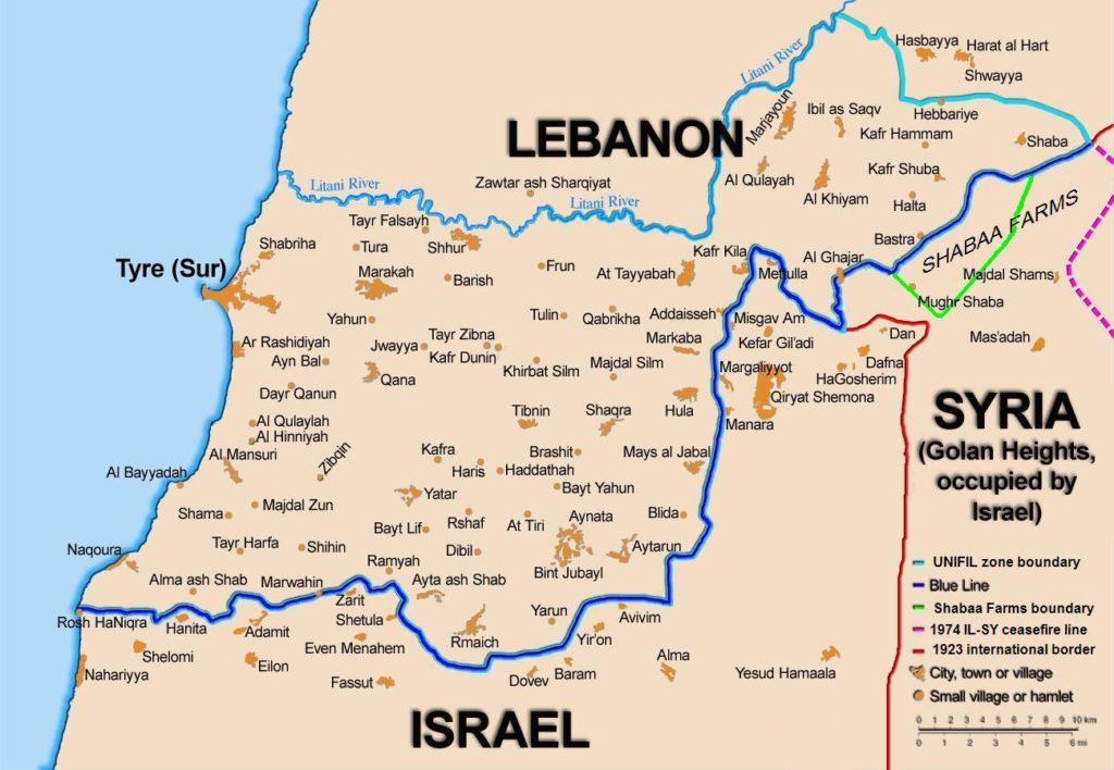 I confini di Israele