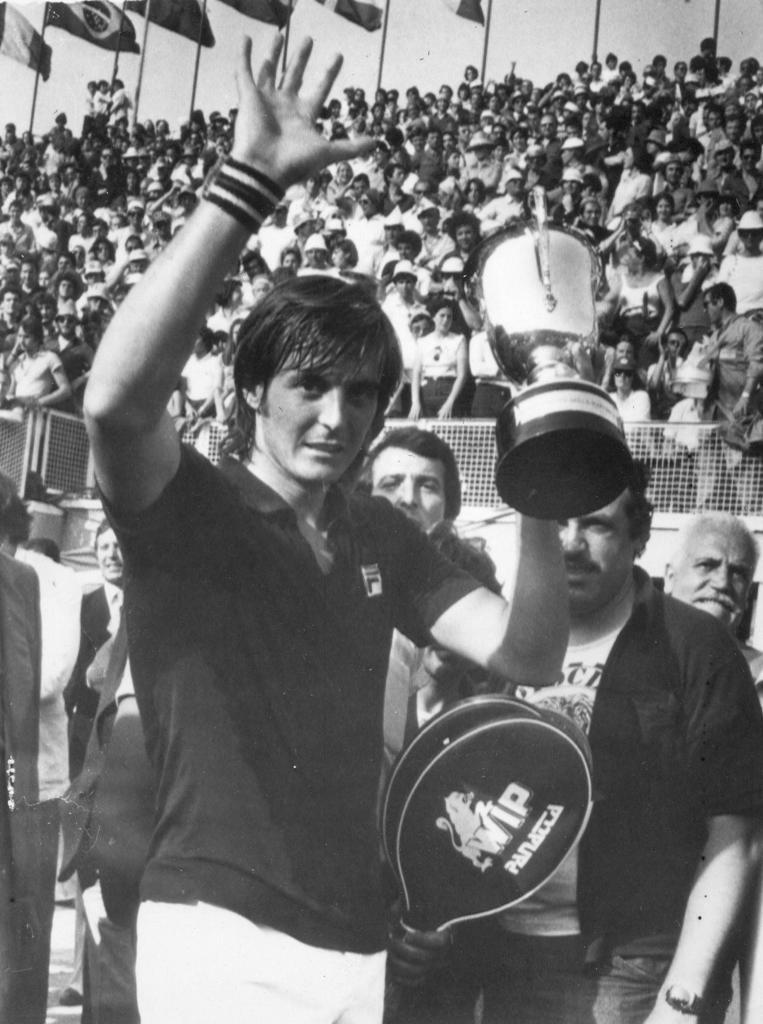 Panatta agli Internazionali di Roma, 1976