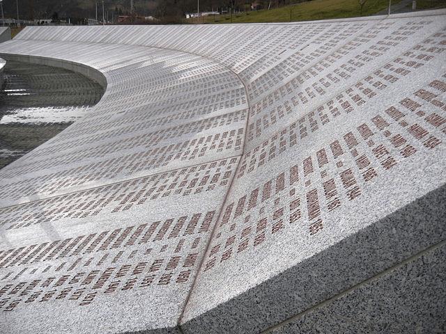 il memoriale di Srebrenica