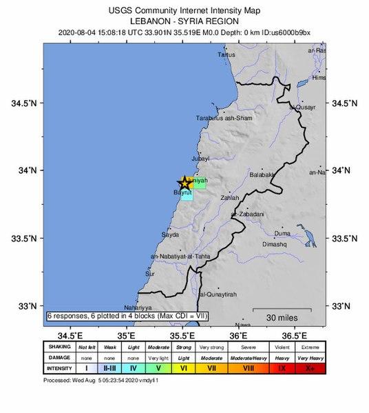 La mappa e il luogo dell'esplosione