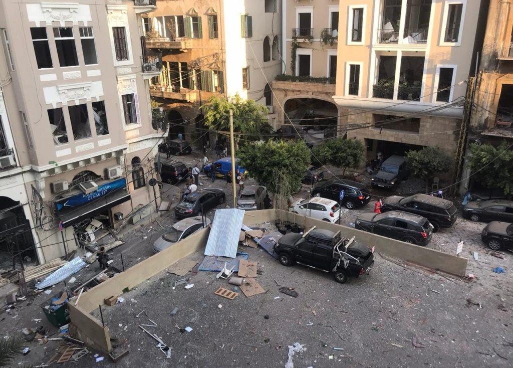 Le macerie dell'espolsione a Beirut