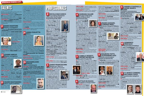 La Power List del Cinema Italiano: tra talenti e grandi dell'industria