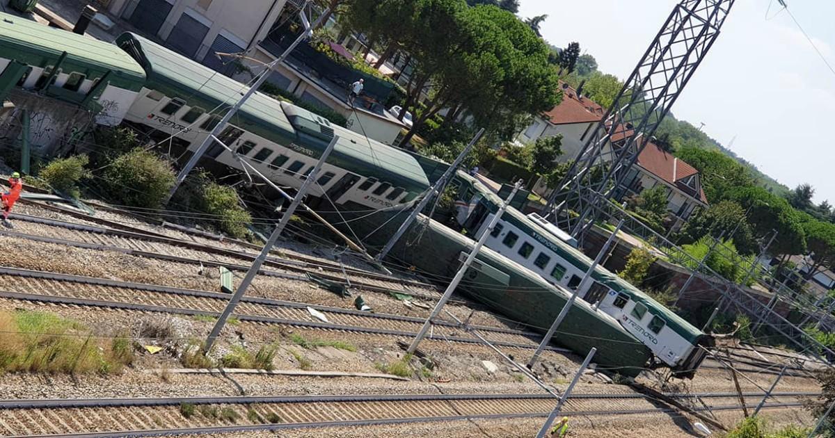 deragliamento treno trenord carnate