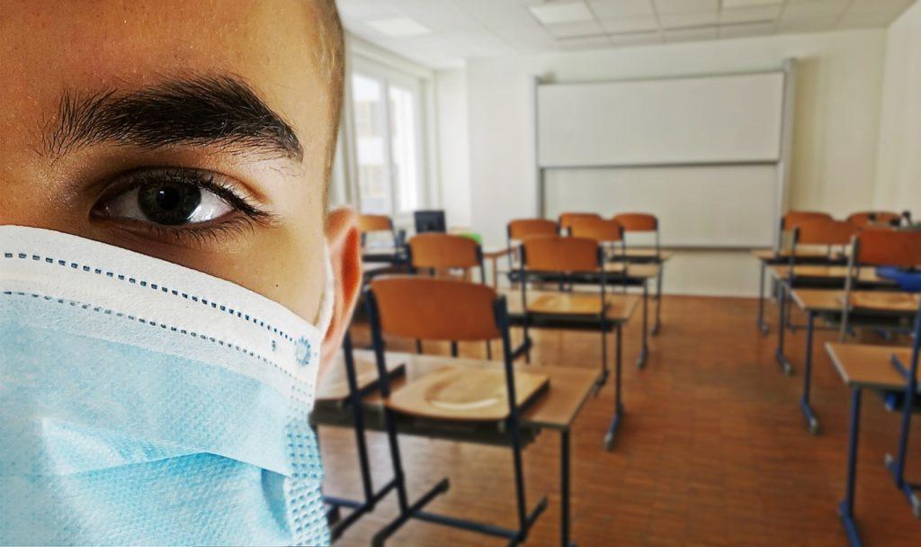 l'uso delle mascherine in classe