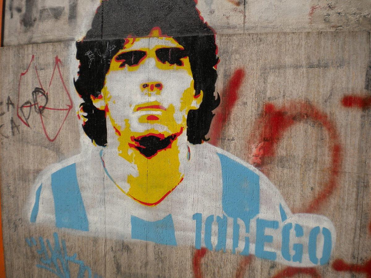 Mondo omaggia Diego Maradona 46/74 Omaggio leggenda Diego Maradona
