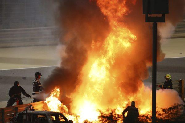 Incidente Bahrein F1 Grosjean