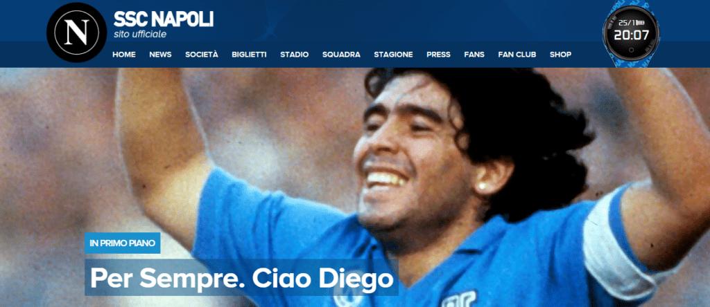 Il mondo piange la scomparsa di Diego