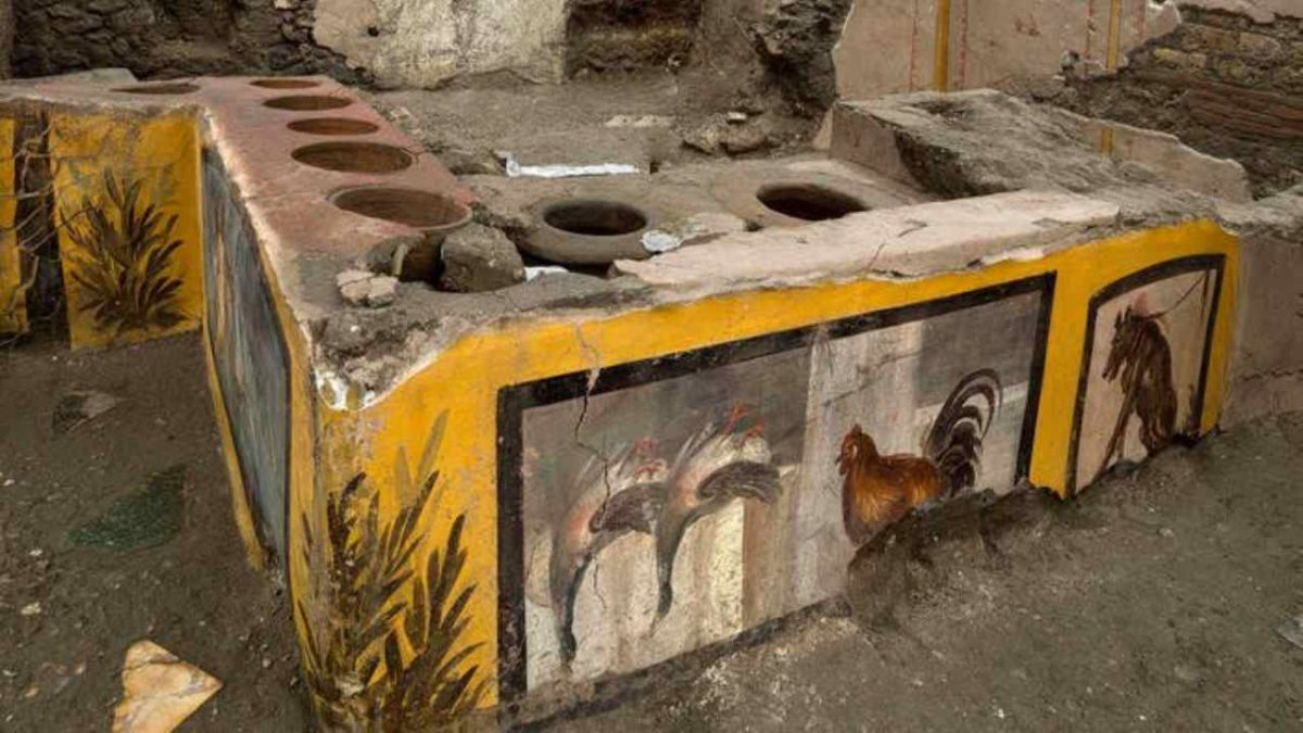 pompei scavi scoperta termopolio