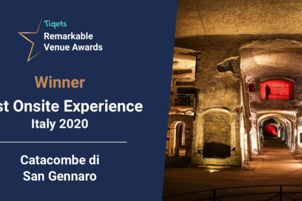 Le catacombe di San Gennaro sfidano e i Remarkable Venue Awards