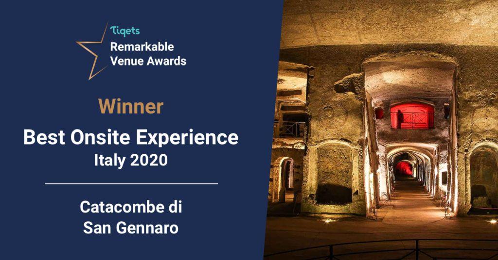 Le catacombe di San Gennaro sfidano e i Remarkable Venue Awards